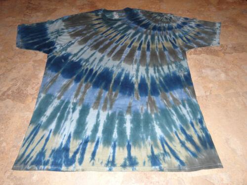 Mens TALL LG XL 2X 3X 4X Tie dye dyed hippie tshirt Short Sleeve Heavy Tee