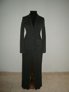 save off c08db 67b03 Dettagli su H&M tailleur giacca pantaloni grigio gessato stretch 40  completo ufficio donna