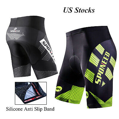 SPONEED Cycling Shorts Gel Padded Men Bike Trousers Team Cycle Shorts Stretchy
