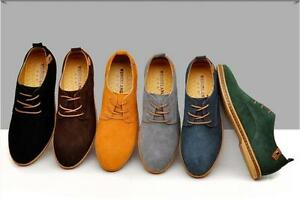 New-Fashion-Men-039-s-Oxfords-Casual-Shoes-Suede-European-Style-Leather-Shoes