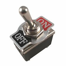 Metal Rocker Toggle Switch Heavy Duty 4 Pin Dpst Onoff 2 Position Dash Car Boat