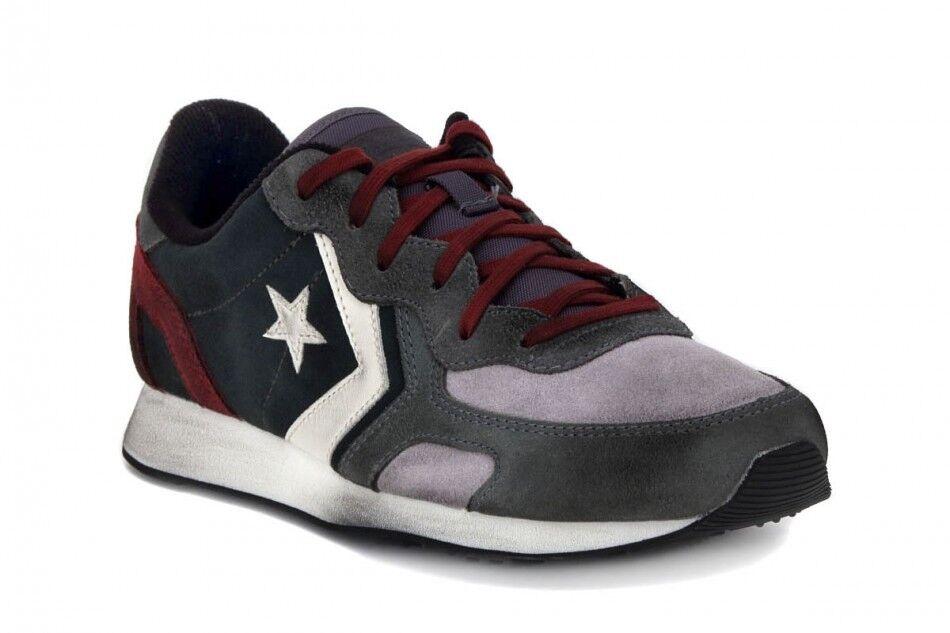 Scarpa Converse auchland racer pelle grigio rosso scarpe da ginnastica 39 40 42 44 150643c