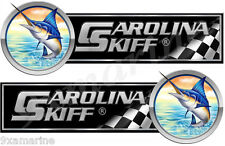 "Two Carolina Skiff 10"" Long Decals. Remastered name plate"