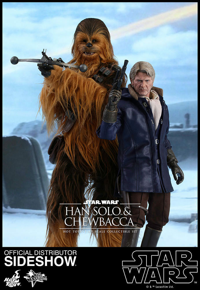 Figura De Star Wars TFA MMS 16 escala-han Solo & chebacca Hot Toys 902761