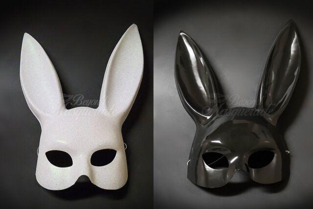 Womens Ariana Grande Style Black Rabbit Mask