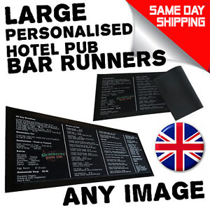 Image Is Loading Personalised Bar Runner Beer Mat Party Drip