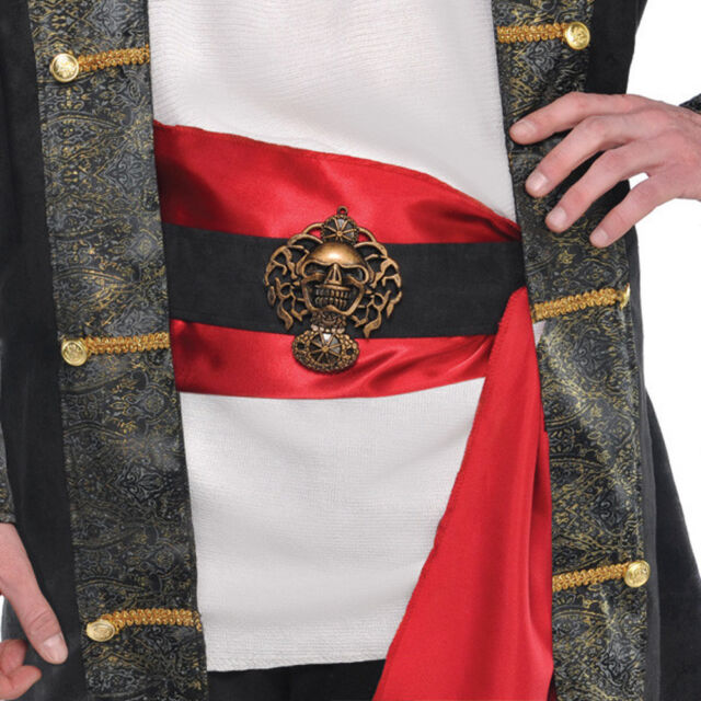 Buccaneer Pirate Belt with Sash Adult Costume Accessory, One Size
