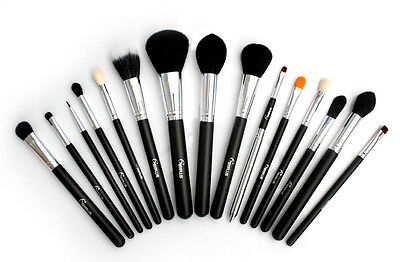 Professional 15 Pcs Makeup Brush Set Tapered Blending Cosmetic Brushes Kit