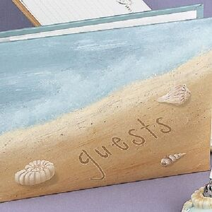 about seaside jewels beach theme personalized wedding guest book