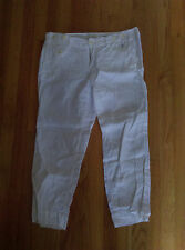 ANTHROPOLOGIE G1 BASIC GOODS LINEN PANTS SIZE 8 WHITE
