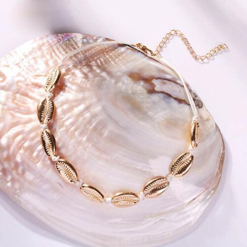 Femmes Beach Sea Shell Kauri Pendentif Or//Argent Collier Tour de Cou Bijoux Nouveau
