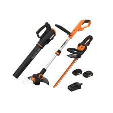 WORX WG933 20V 3pc Blower , Trimmer & Edger Combo with (WG547, WG162, WG261)