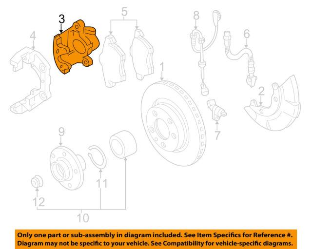 s l640 vw volkswagen oem 05 10 jetta front brake disc caliper 1k0615123m ebay