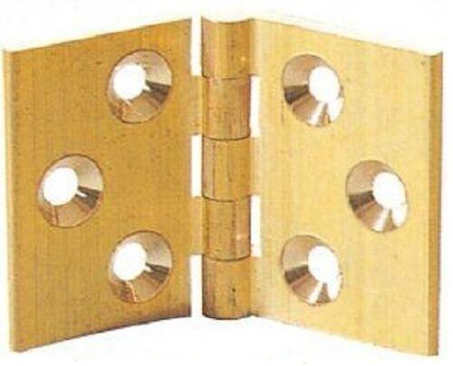 Hinges 32 x 48mm Solid Brass Bureau Bureaux Flap Backflap Desk