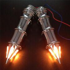 "Spike 1"" Hand Grip w/Turn Signals For Kawasaki Vulcan 500 800 900 1500 Chrome"