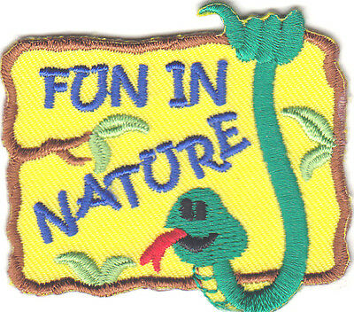 """""""FUN IN NATURE"""" - SCHOOL - OUTDOORS - LEARNING -  Iron On Embroidered Patch"""