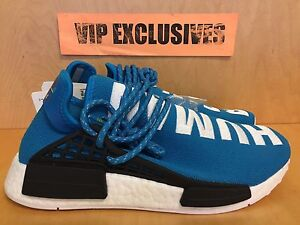 reputable site cd69f 3f098 Details about Adidas NMD Human Race Pharrell Williams Blue White PW Hu  Being Nomad BB0618