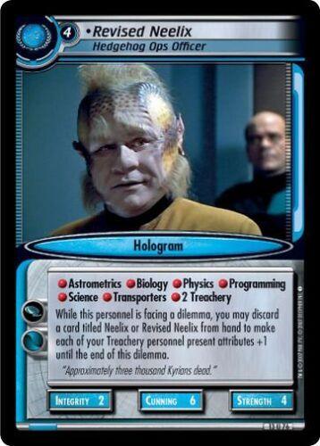 Hedgehog Ops Officer 13U76 Star Trek CCG 2E In A Mirror Darkly Revised Neelix
