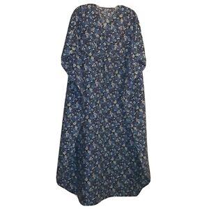 "Kaftan Womens Plus Sz Floral All Over Print 40"" X 52"" Purple Blue Green White"