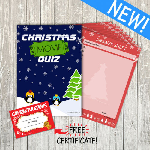 Family Party Game 60 Questions 10 Player The Ultimate Big Christmas Quiz