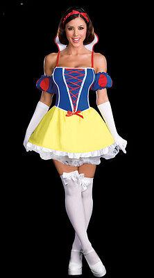 New Fairy Tales Disney Princess Cinderella Snow White Ladies Fancy Dress Costume