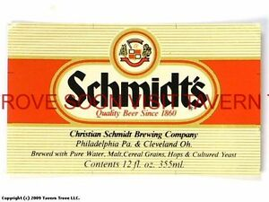 Tough 1930s Schmidt/'s Light Beer label set Tavern Trove Philadelphia IRTP