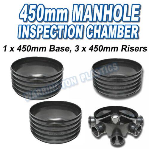 450mm Inspection Chamber Manhole 1 x 450mm Base 3 x 450mm Risers