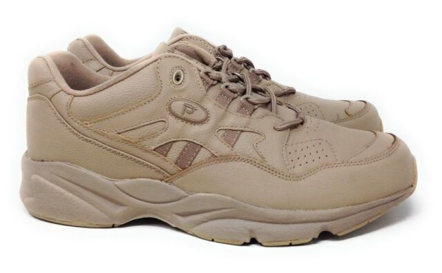 Propet Men's Stability Walker Lace Walking Shoes Taupe Leather Size 10 M