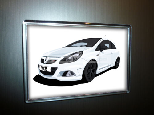 CHOOSE YOUR CAR COLOUR. VAUXHALL CORSA VXR FRIDGE MAGNET