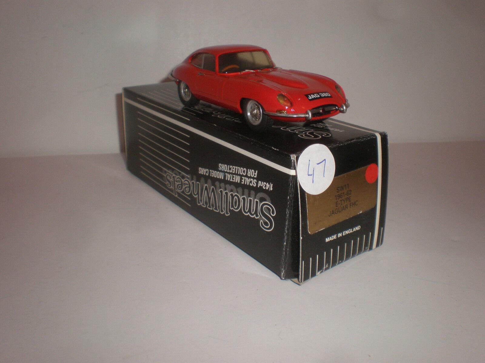 1 43 ruedas pequeña SW11 1961-1962 Jaguar Cardoso E-Tipo rosso Muy Raro