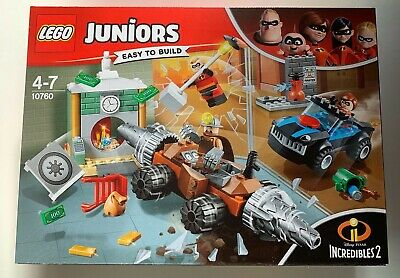 LEGO Juniors 10760 Incredibles 2 Underminer Bank Heist Set Easy To Build