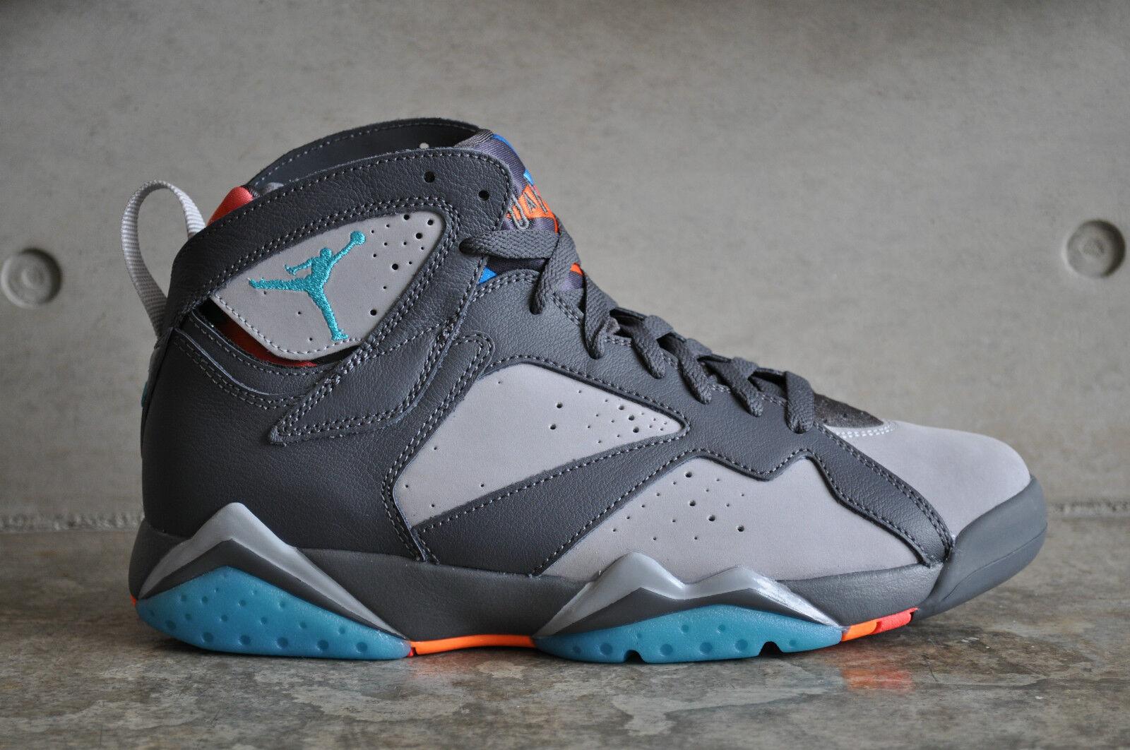 Nike Air Jordan 7 Retro  Barcelona Days  - Dark Grey Wolf Grey-bluee