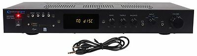 Technical Pro IA1000 1000 Watt 2 Channel Integrated Receiver Amplifier w/ USB/SD