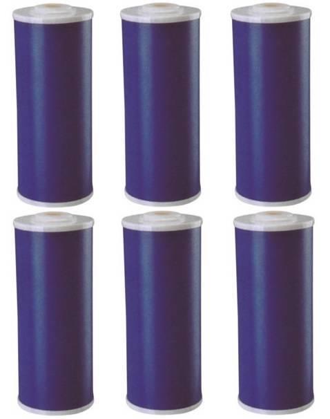 6 Big bleu (GAC) Granular Activated Carbon Filtres à eau 4.5  x 10  cardridges