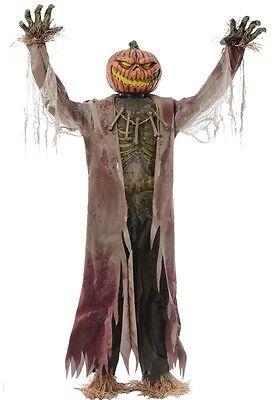 Corn Stalker Life-Sized Animated Prop Creepy HALLOWEEN Decor WICKED Scarecrow