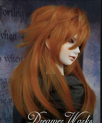 "1/3 8-9"" Pullip.BJD.SD supper dollfie Doll orange long wig hair christmas gift"