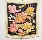 Salvatore Ferragamo Scarf Silk Tropical Floral Designer Foulard Sciarpa With Tag