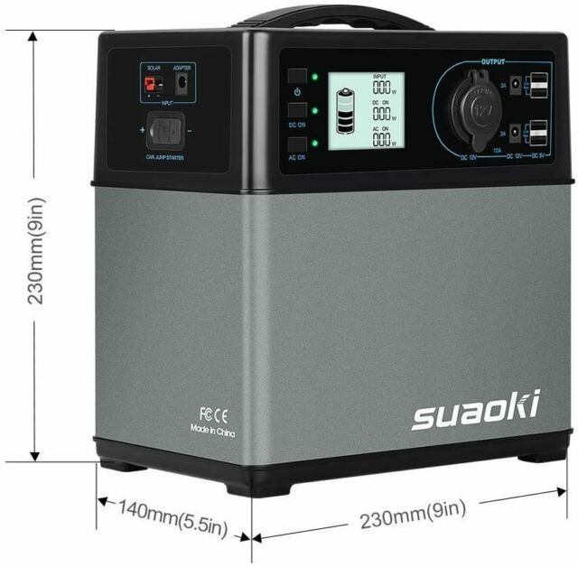 SUAOKI 400Wh/120,000mAh Portable Generator Power Station Power Supply with Quiet