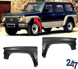 NEW-FIBREGLASS-FRONT-WINGS-LEFT-RIGHT-FENDERS-PAIR-SET-FOR-NISSAN-PATROL-90-97