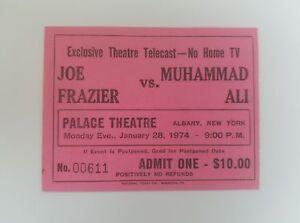 1974-Muhammad-Ali-vs-Joe-Frazier-Boxing-Ticket-Palace-Theatre-Free-Shipping
