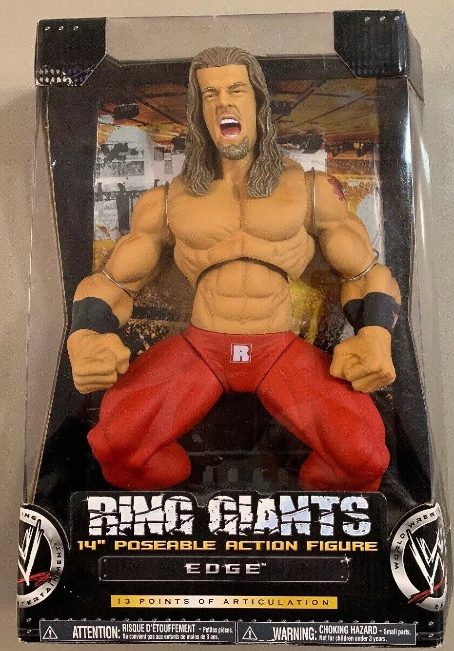 WWE Edge RING GIANTS 14  Poseable Action Figure WWF NIB Sealed Jakks RARE