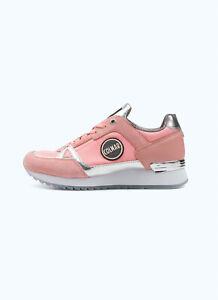 Dettagli su Sneakers Donna Colmar Supreme Colors Scarpe Pelle Nylon Rosa Argento Nuove
