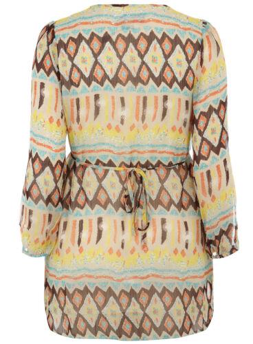 EVANS//LOVEDROBE Tribal Print Sleeve Tunic Top  26//28  30//32  Multi
