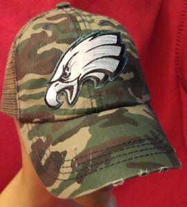 Image is loading Philadelphia-Eagles-Distressed-Camo-Baseball-Cap-Hat-Mesh- ed92d858f