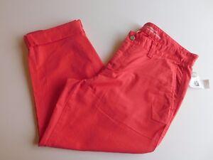 NWT-Gap-Women-039-s-Girlfriend-Khaki-Ankle-Pants-Pink-Size-0-MSRP-50-Free-Ship-New