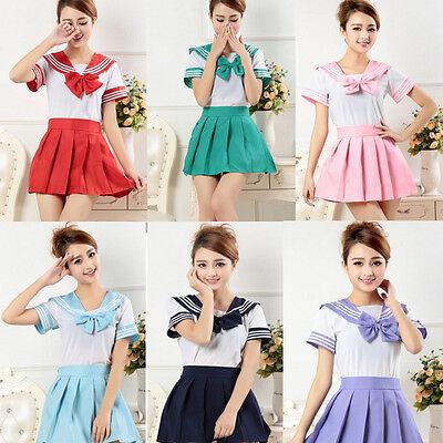 Japanese Japan School Uniform Dress Sailor Cosplay Costume Anime Girl Styles Hot