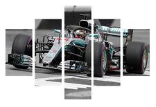 Lewis Hamilton F1 Champion Mercedes 5 Piece Canvas Home Decor Wall Art Decor