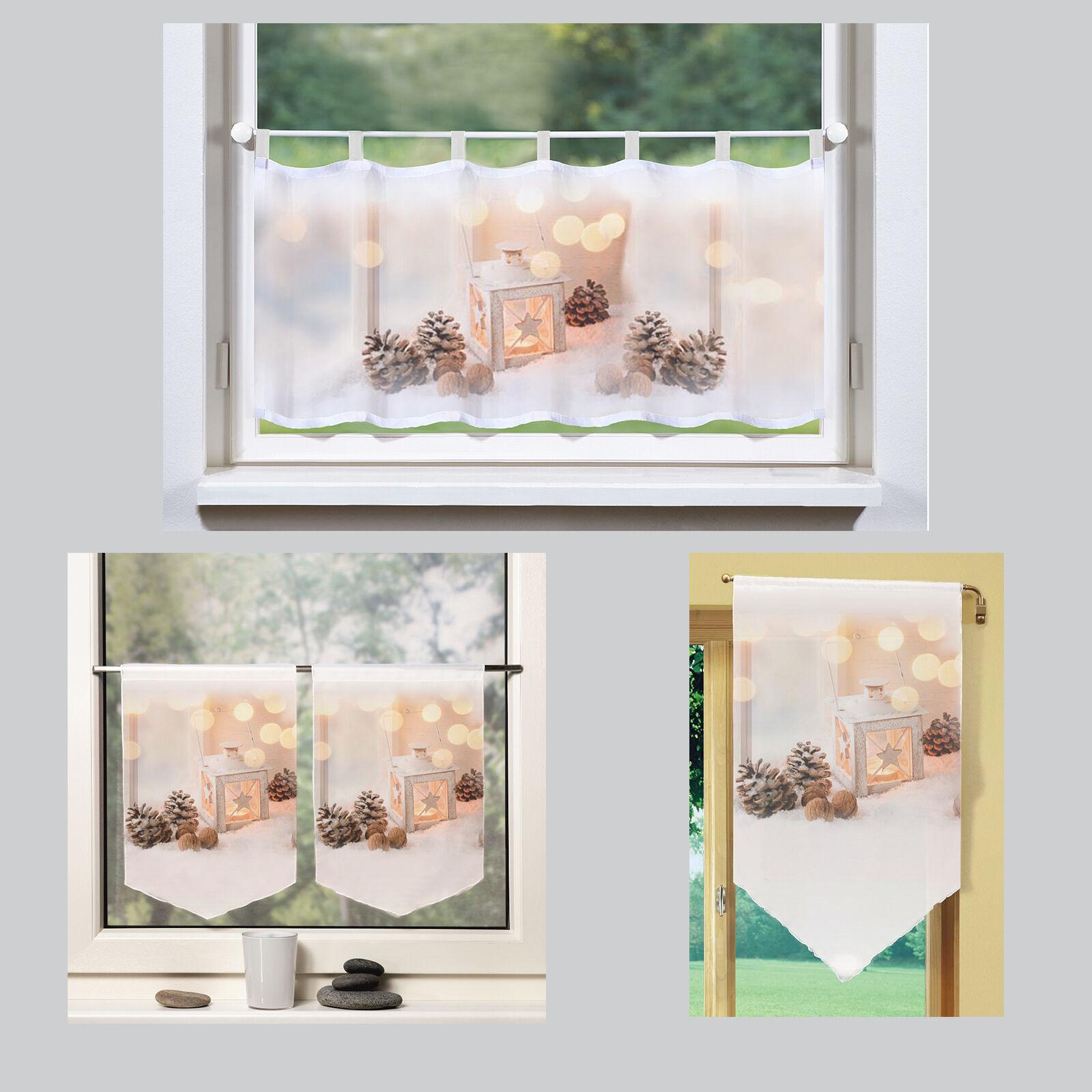 Laterne weihnachten bistrogardine scheibengardine panneaux for Fenetre 45x120