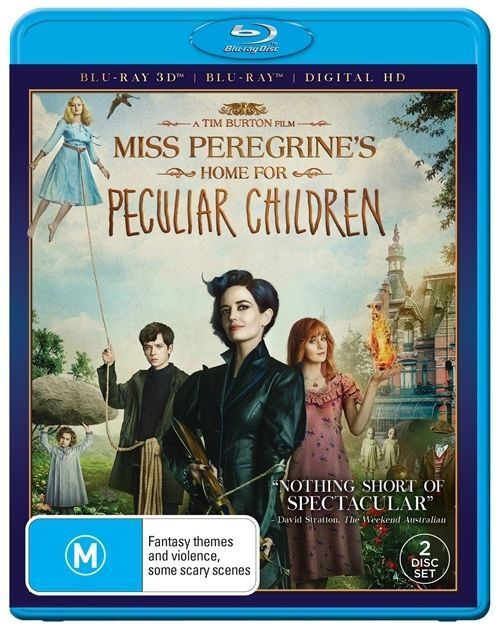Miss Peregrines Home For Peculiar Children 3D + Blu-ray (2 Disc Set) New  Sealed