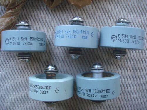 150pf 6kV 7kVAR Ceramic Doorknob Capacitor Military equipment. Silver content
